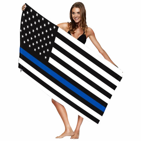 Blue Line Beach Towel