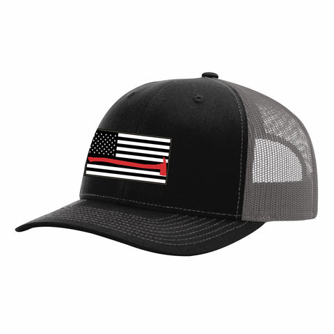 Red Line Trucker Snap Back Hat
