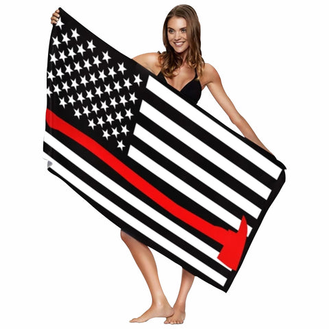 Red Line Beach Towel