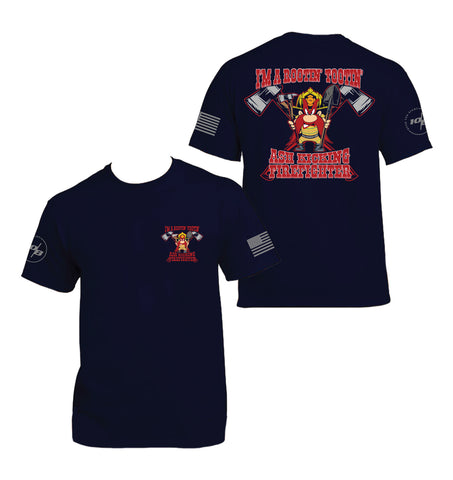 Rootin' Tootin' Fire Fighter Men's Next Level Premium Fitted CVC Crew Tee