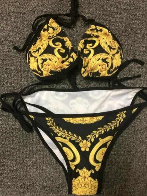 Gold Design Bikini Swimwear