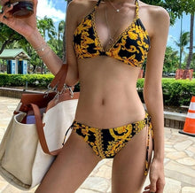 Load image into Gallery viewer, Gold Design Bikini Swimwear