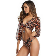 Load image into Gallery viewer, Three Pieces Bell Sleeve Bikini