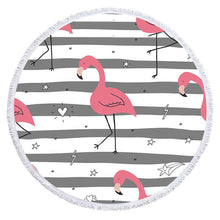 Load image into Gallery viewer, Cartoon Flamingo Series Microfiber Beach Towel