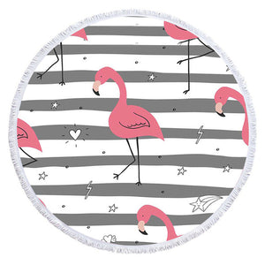 Cartoon Flamingo Series Microfiber Beach Towel