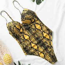 Load image into Gallery viewer, Swimsuit/Bodysuit Snake Print Bikini