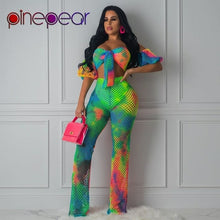 Load image into Gallery viewer, Colourful Gradient Fishnet Off Shoulder Bow Bra