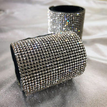 Load image into Gallery viewer, Silver shiny full rhinestone hair accessories hair circle nightclub