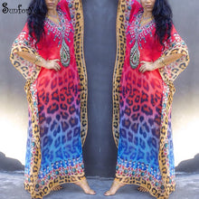 Load image into Gallery viewer, Plus Size Summer Beach Cover Up Maxi Dress