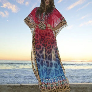 Plus Size Summer Beach Cover Up Maxi Dress