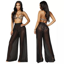 Load image into Gallery viewer, Swimsuit Cover Up Sheer Mesh Pants