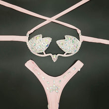 Load image into Gallery viewer, Rhinestones Bikini Two Piece Sets