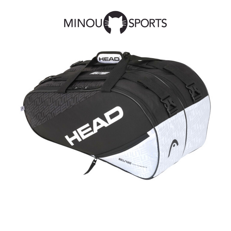 Paletero Head Elite Padel Supercombi Negro y Blanco