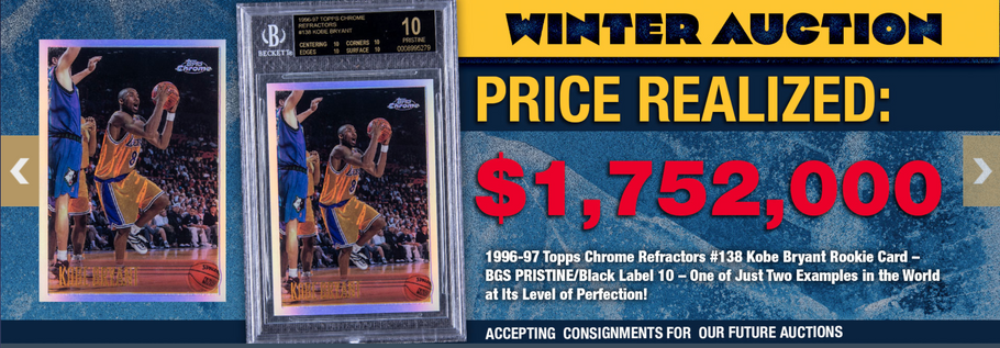 KOBE BRYANT ROOKIE TRADING CARD SELLS FOR JUST UNDER $1.8 MILLION