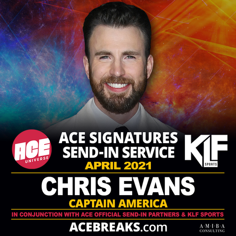 Chris Evans for ACE Signature Send-In Service for April 2021