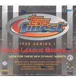 1998 Topps Finest Baseball Series 1 Single Pack from a Hobby Box Break