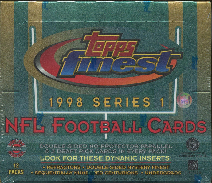 1998 Topps Finest Series 1 Football Single Pack from a Hobby Box Break