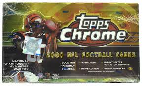 2000 Topps Chrome Football Single Pack of Cards for Sale from a Hobby Box Break