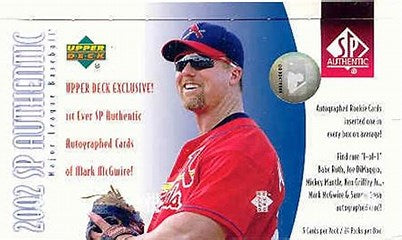 2002 Upper Deck SP Authentic Baseball Single Pack from a Hobby Box Break