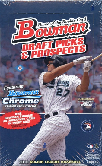 2010 Bowman Draft Picks & Prospects Baseball Single Pack of Cards for Sale from a 24-Pack Hobby Box Break
