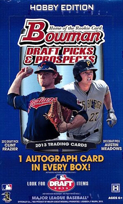 2013 Bowman Draft Picks & Prospects Baseball Single Pack of Cards for Sale from a 24-Pack Hobby Box Break