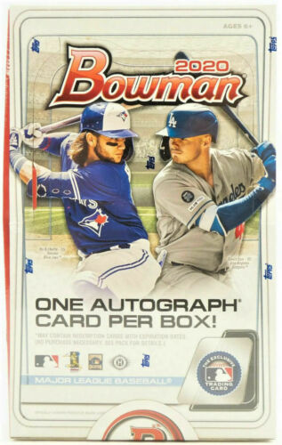 2020 Bowman Baseball Single Pack of Cards for Sale from a 24 Pack Hobby Box Break