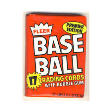 1981 Fleer Baseball Cards - Single Pack for Sale from a Box Break