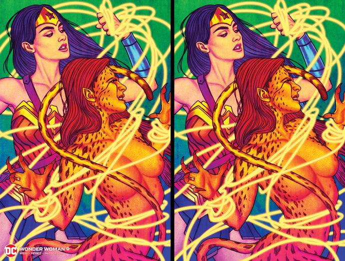 Wonder Woman #9 (1987) New Printing ACE Comic Con Exclusive Jenny Frison Fluorescent Covers 2-Pack (Virgin & Regular) Hard #'d