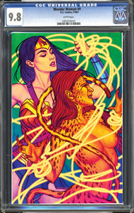 "Wonder Woman #9 (1987) ACE Comic Con Exclusive Fluorescent ""Virgin"" Variant Cover CGC 9.8"