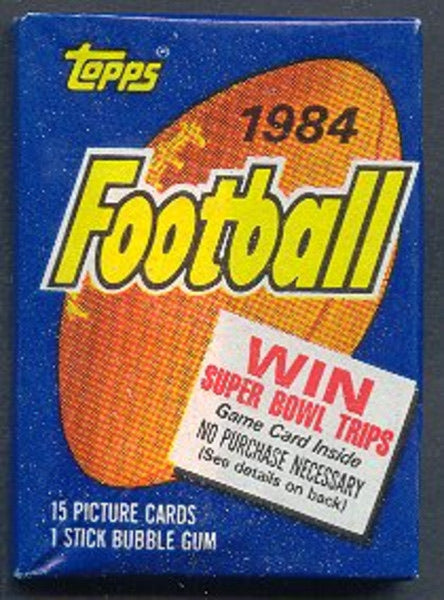 1984 Topps Football Random Full Pack Break (Possible PSA 10 Dan Marino, John Elway and Eric Dickerson rookie cards!)