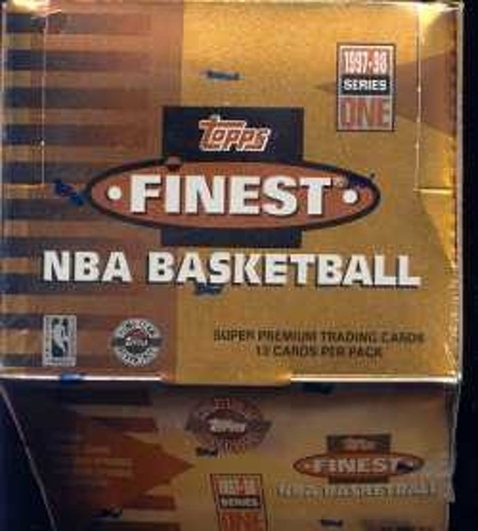 1997 Topps Finest NBA Basketball Series 1 HTA Jumbo Box Break