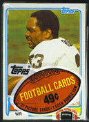 1981 Topps Football Cello Pack for Sale