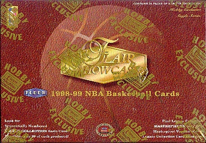 1998 Flair Showcase Basketball Hobby Box Break (one pack from a sealed box break)