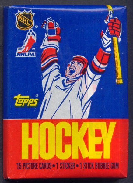 1986-87 Topps Hockey Single Pack for Sale from a Box Break