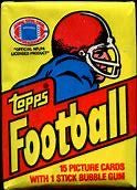 1980s Topps Football Decade Pack Mixer (1980-1989 One Pack From Each Year)