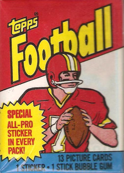 1983 Topps Football Single Pack Break (one random pack break)