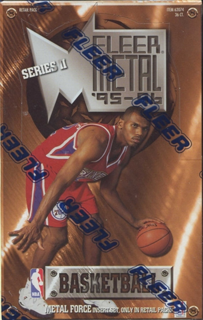 1995-96 Fleer Metal Series 2 Basketball Single Pack of Cards for Sale from a Box Break