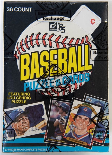 1985 Donruss Baseball Single Full Pack (one random pack from a BBCE Authenticated box)