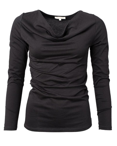 Long Sleeve Cascade Shirt Black
