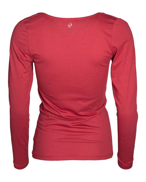Long Sleeve Cascade Shirt Ruby