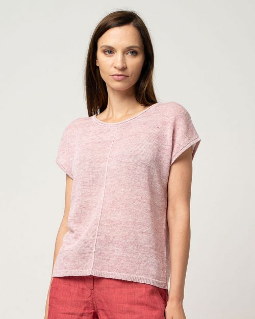 Cotlin Short Sleeve Top Blush Pink