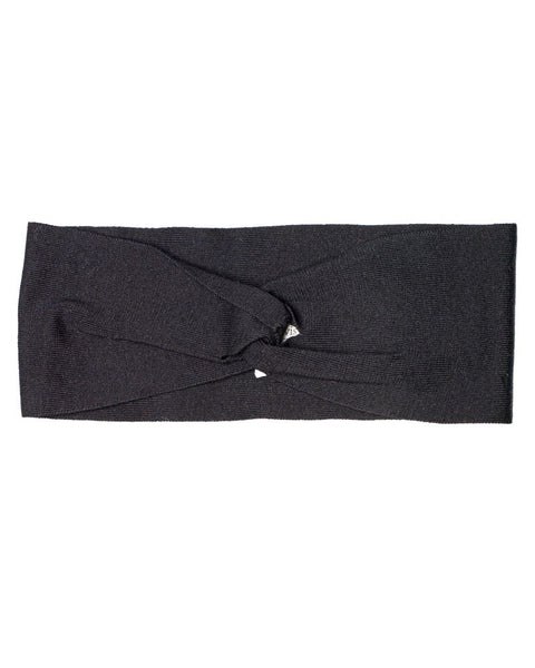 Cotton Knit Winter Headband Black