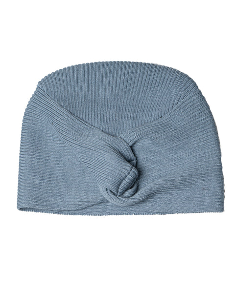 Knit Hat with Knot Jaspis Blue
