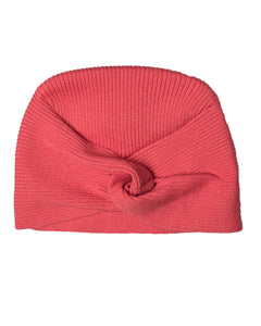 Knit Hat with Knot Cranberry