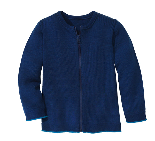 Disana Zip Cardigan Navy