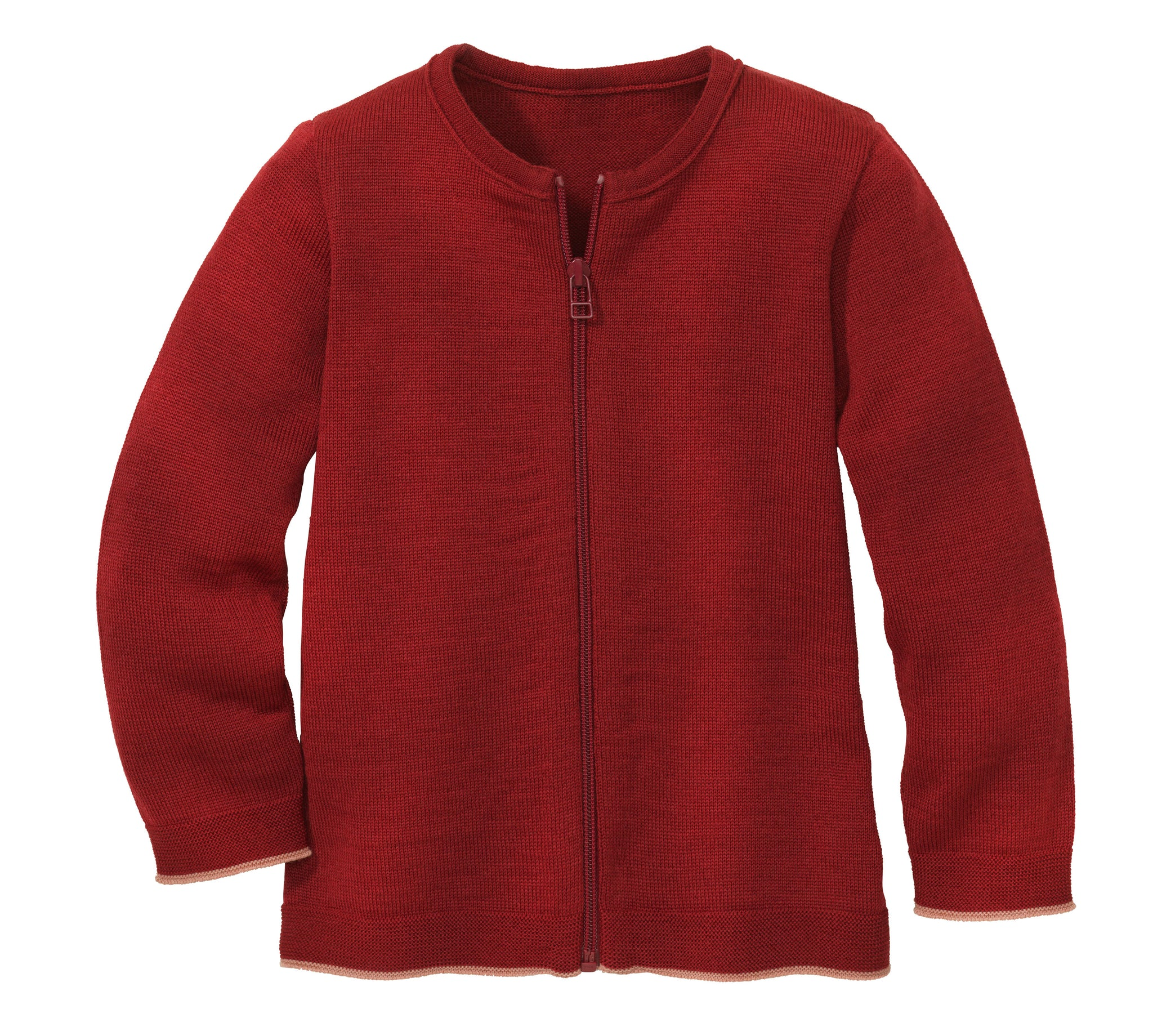 Disana Zip Cardigan Bordeaux