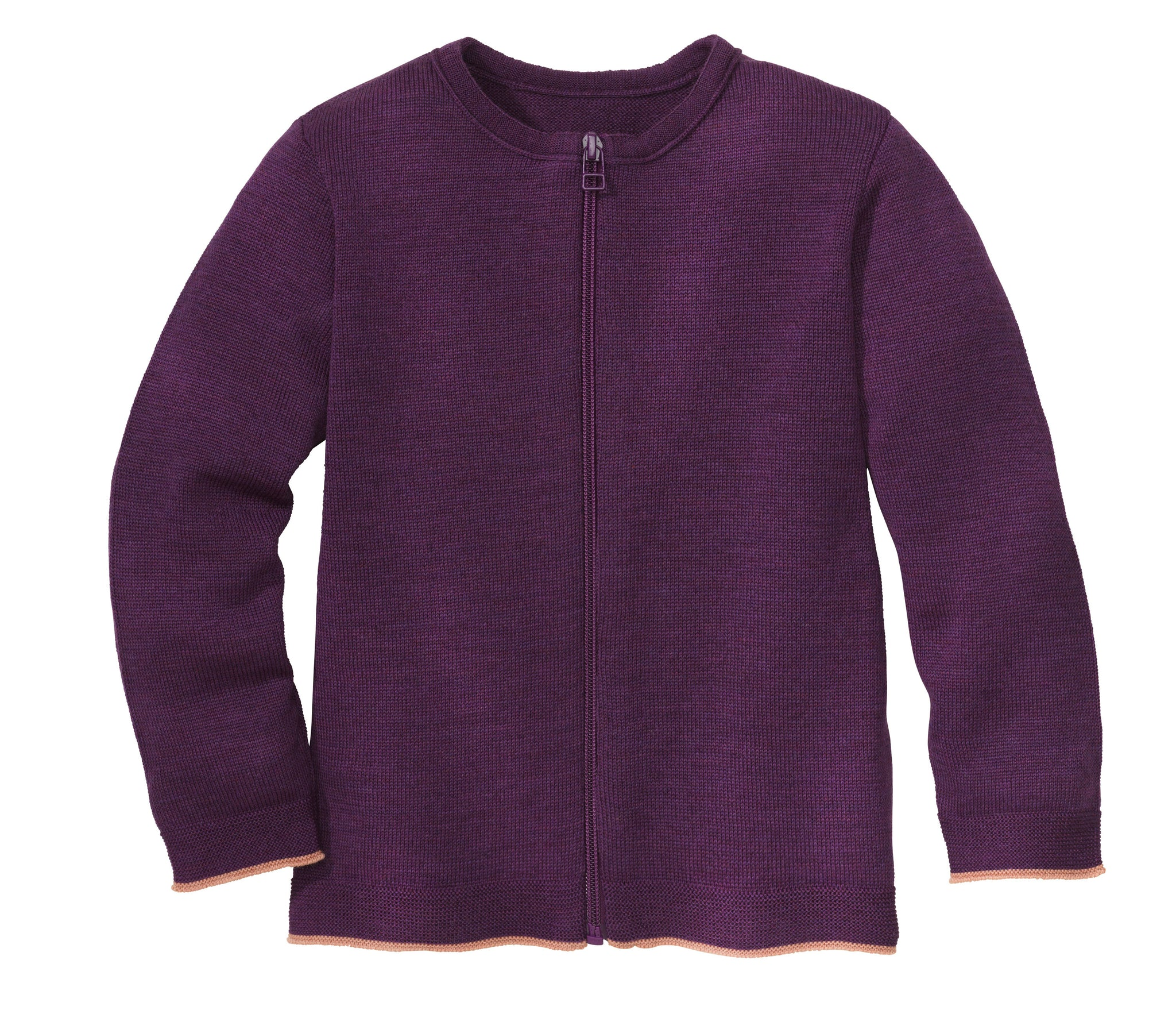 Disana Zip Cardigan Plum