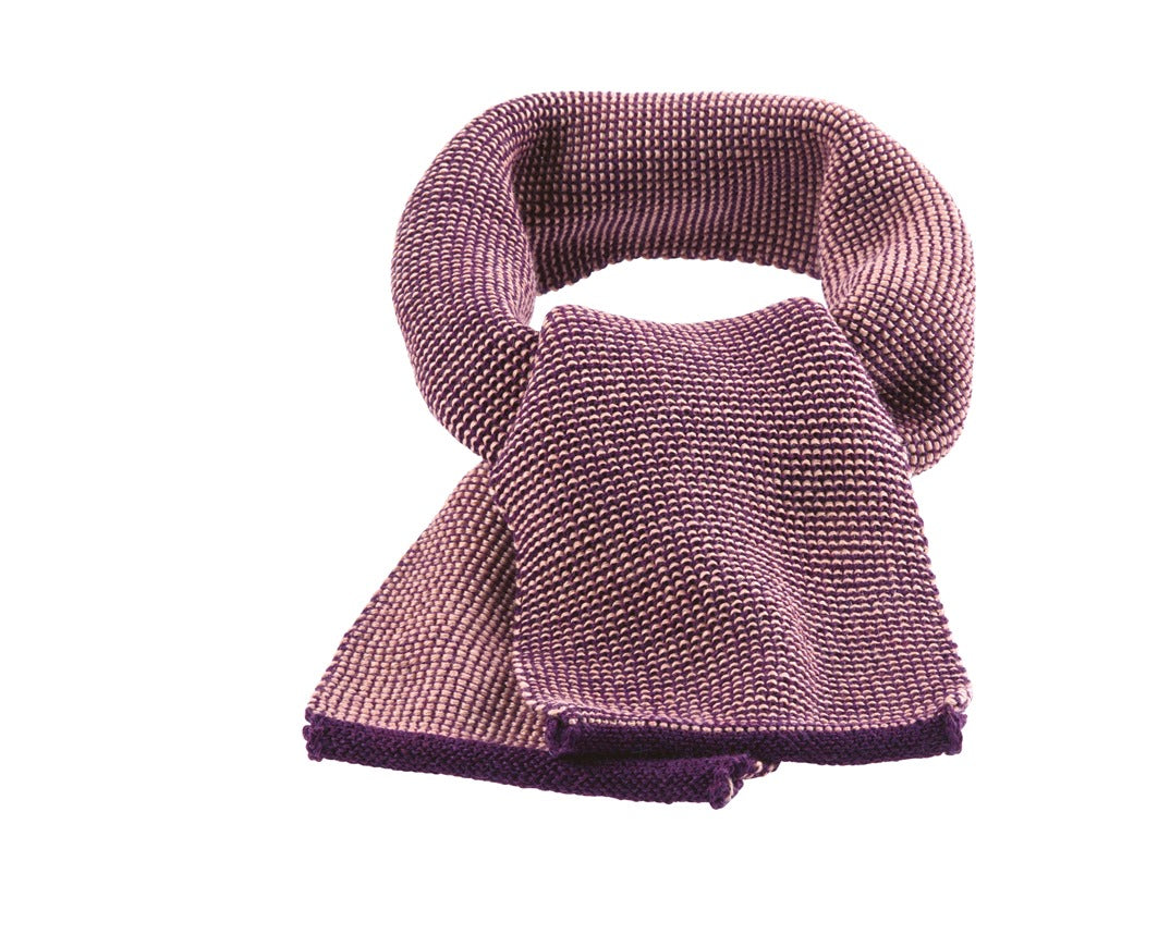 Disana Melange Merino Child's Scarf Plum-Rose