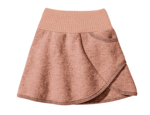 Boiled Wool Skirt Rose