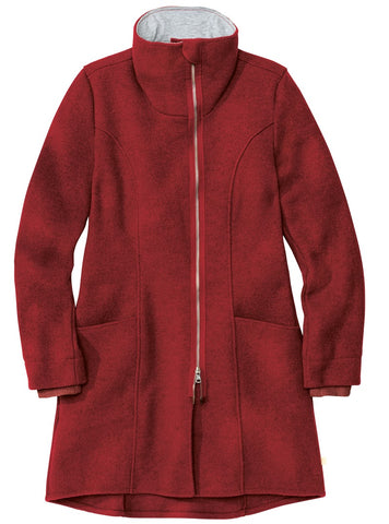 Disana Women's Organic Merino Coat Bordeaux